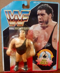 1990 Hasbro WWF Series 1 U.S. Blue Card Andre The Giant Action Figure MOC