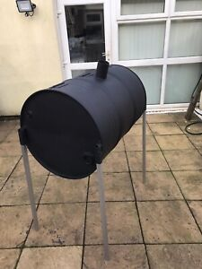 Professional Oil Drum BBQ Jerk Pan with removable legs