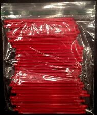 "Lot of 44 Standard Red K'Nex 5 1/8"" Rods"