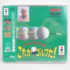 Tom Kite Korega Golf Da Brand NEW 3DO Panasonic Import JAPAN Video Game 3d