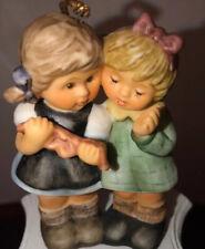Goebel, Berta Hummel, 1999 Christmas Whispers, 2 Girls, Gift Ornament Bh-89 Nice
