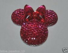 DEMI PERLE  minnie   RESINE APPLIQUE  A COLLER   REF C446