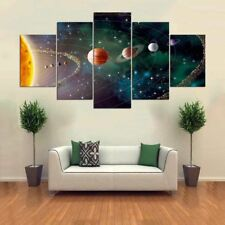Solar System Galaxy Universe 5 panel canvas Wall Art Home Decor Poster Print