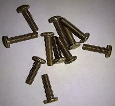 "8/32"" X 5/8"" long Screws Knurled Head Brass Finish Repair Lamp 10 pack"