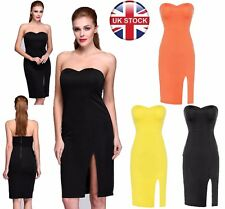 Women Celeb Sexy Backless Club Strapless Bodycon Going Out Party Evening Dress