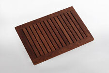 Teak Wood Shower/Spa/Pool/Bath/Deck mat 23.6 x 17.7 in with frame Premium oiled