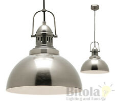 MERCATOR INDUSTRY 1 LIGHT CEILING PENDANT ANTIQUE SILVER METAL INDUSTRIAL MP9031