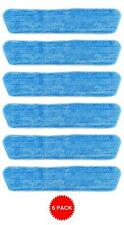 6 Blue Microfiber Dust Mop Pads Refill Fits Starfiber, Bona, Libman, Scoth-Brite