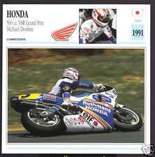 1991 Honda 500cc NSR Grand Prix Michael Doohan Race Motorcycle Photo Spec Card