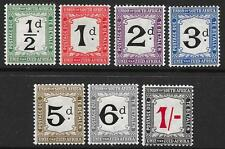South Africa 1914-22 Postage Dues Set SG D1-D7 (Mint)