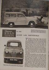 1955 Austin A30 Countryman Original Autocar magazine Road test