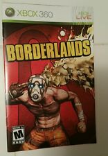 Xbox 360 Borderlands Instruction Booklet Insert Only Microsoft