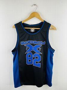 Badboy X Fit Men's Singlet Size M Black Casual Logo Sleeveless Muscle Top