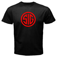 New Simple SIG Sauer T Shirt Academy firearms 100% Cotton Men's TShirt S - 2XL