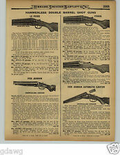 1929 PAPER AD LeFever Hammerless Double Barrel Shotgun Nitro Special Ithaca
