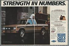 1987 CHEVROLET S10 pickup 2-page advertisement, Chevy S-10 Maxi-cab 4x4 ad