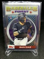 2020 Topps Finest Flashbacks 29 ISAN DIAZ Marlins Rookie Rc