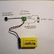 Tiny Electret Microphone 9V Battery Phantom Power Board