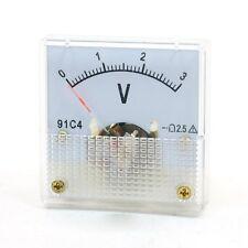 DC 3V Analog Panel Volt Voltage Meter Voltmeter Gauge 85C1 0-3V 91C4