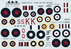Fleet Air Arm at War 1/72nd scale decals