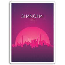 2 x 10cm Shanghai China Vinyl Stickers - Travel Sticker Laptop Luggage #17092