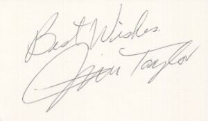 Jim Taylor - NFL Football, Green Bay Packers - Autographed 3x5 Card