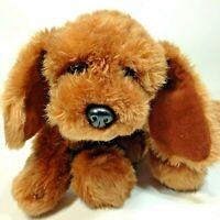 "Kids of America Corp Plush Brown Puppy Dog Mutt Hound w/ Red Bow 10"""