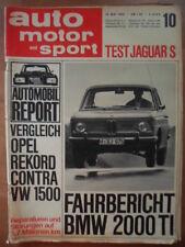 AUTO MOTOR UND SPORT 14.5. - 10/1966 BMW 2000 TI Opel VW Jaguar S 3,8 EMPI-VW