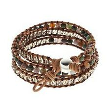 Silver n Stone Wrap Bracelet with Genuine Stones & Gift Box, FREE S&H, $60