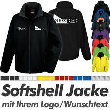 SOFTSHELL JACKE schwarz, inkl. Ihrem Wunschdruck Logo Druck Werbedruck