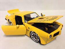 1972 Pontiac Firebird Trans AM, Collectible, Diecast 1:24 Scale,Jada Toy, Yellow