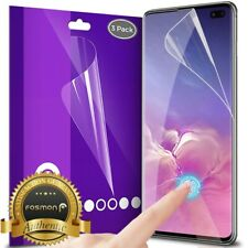 Fosmon for Galaxy S10+ Plus 3x HD Clear Finger Sensitive [FULL SCREEN] Protector