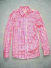Ann Taylor Plaid Floral Stripe Dot L.L.Bean L/Slv Button Shirt Blouse Top Tunic