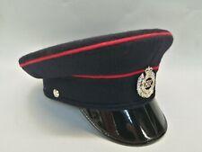 Royal Engineers Peak Cap With Badge British Army Uniform Parade Reenactment 56cm