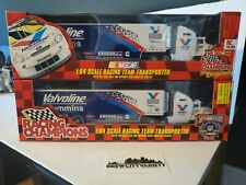 Racing Champions Mark Martin 1/64 Hauler Transporter Valvoline lot of 2 new