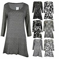 New Ladies Women's Casual Night Evening Dress Top Shirt Loose Top Wear UK 12-26