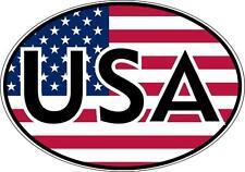 autocollant sticker voiture moto oval drapeau usa etats unis amerique americain