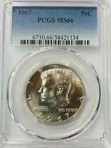 1967  Kennedy Half Dollar PCGS  MS66