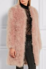 PINK fEATHER FLUFFY FUR JACKET COAT
