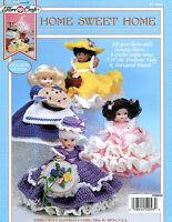 Home Sweet Home Air Freshener Dolls, Fibre-Craft crochet patterns OOP rare