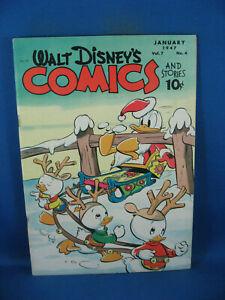 WALT DISNEY COMICS STORIES 76 VF BARKS KELLY CHRISTMAS CVR 1947 NICE