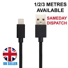 For Apple iPhone 5 Charger Cable USB Lightning Charging Lead 1M 2M 3M Black