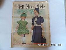 LE PETIT ECHO DE LA MODE N°9 27/02/1938 MODES ENFANTINES ET ROBE D'INTERIEUR K39