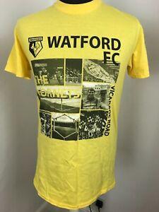 Watford football Shirt T-Shirt Official Merchandise Vicarage Tee Size Medium