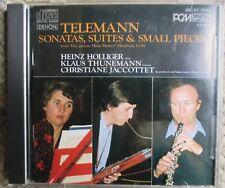 Telemann Holliger Thunemann Jaccottet 1st First Pressing Japan Denon 38C37-7052