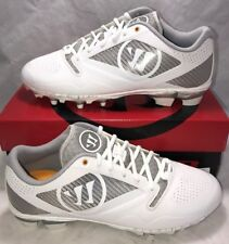 Warrior Gospel Mens Size 12 Lacrosse Lax Cleats Silver White New