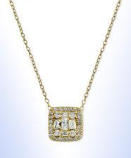 2e5c737da Giani Bernini 18k Gold Sterling Silver Cubic Zirconia Square Necklace R313