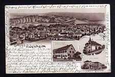 109471 AK Adelsheim Litho 1905 Bahnhof Gasthaus zum Hirsch Villa Weng