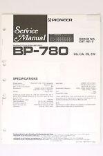 PIONEER BP-780 Graphic Equalizer/Amplifier Orig. Service-Manual/Schaltplan! o66
