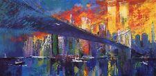 "Leroy Neiman      ""The Brooklyn Bridge""   MAKE  OFFER"